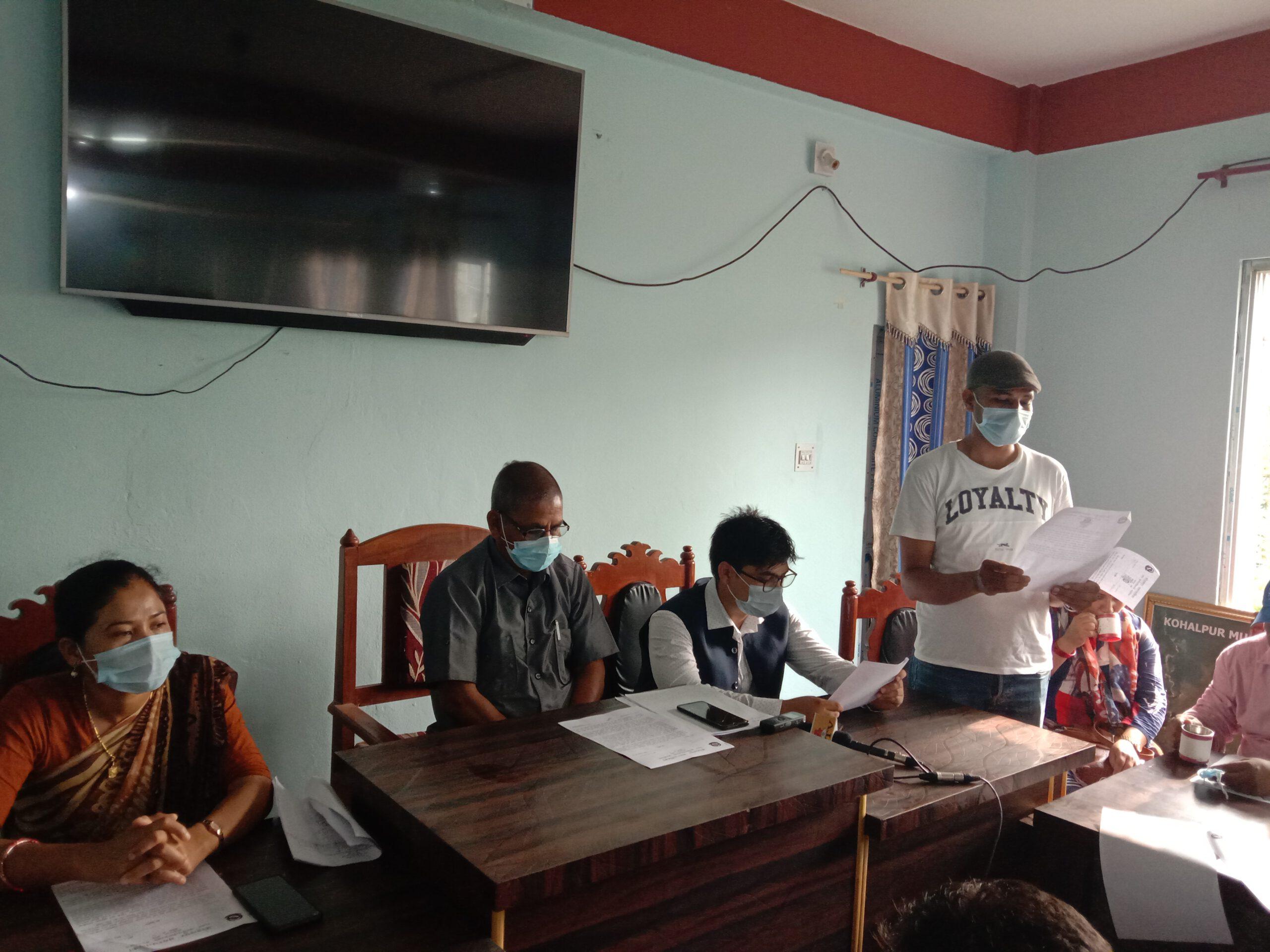 काेराेना महामारीकाे बेला जनप्रतिनिधिले अनुगमनकाे भत्ता लिएका छैनन – काेहलपुर नगरपालिका